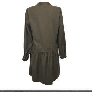 J. Crew Dresses - J. Crew | Army Green Wool Button Dress 2